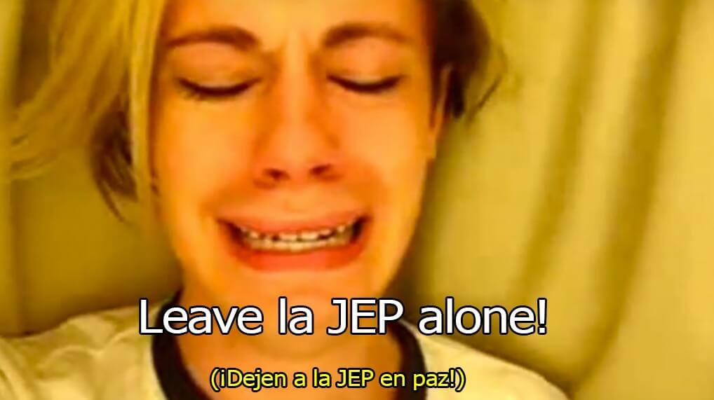 ¡Dejen a la JEP en Paz!