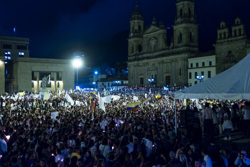¿La Plaza de Bolívar debe ser el centro de los movimientos ciudadanos por la paz?