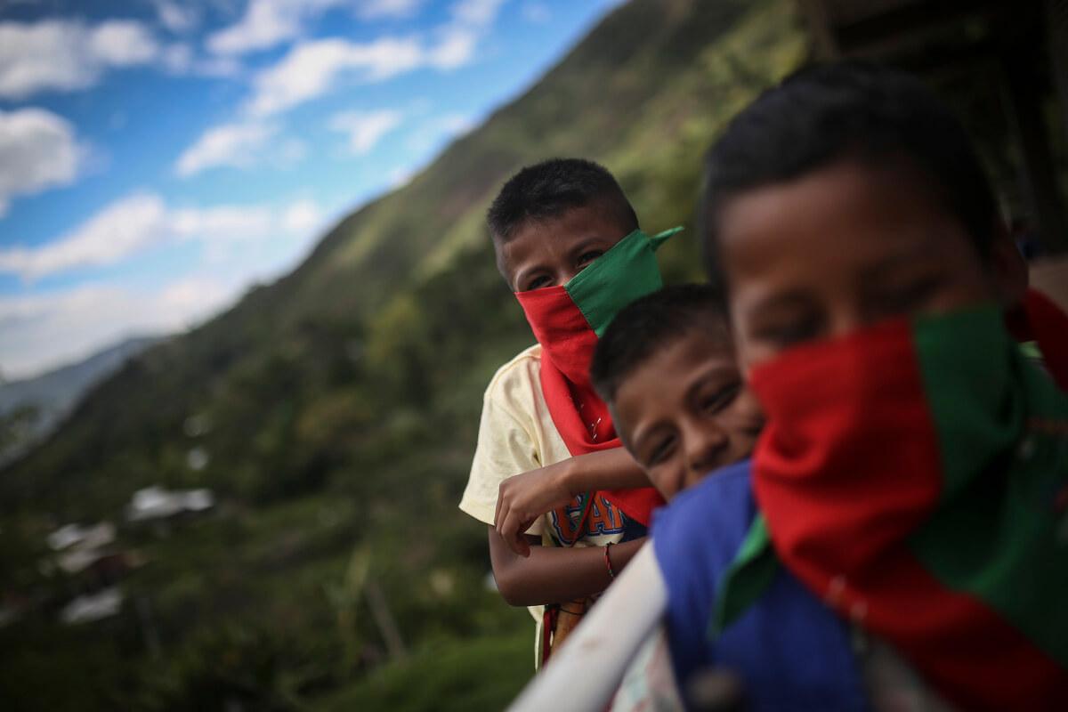 #CaravanaPacifista 8 de noviembre: Imágenes de fuerza y resistencia de la Guardia Indígena Nasa