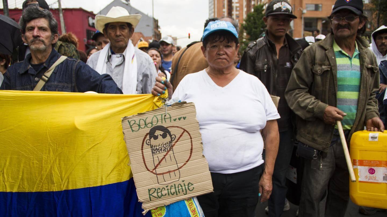 Recicladores bogotanos nos contaron por qué protestaron contra Peñalosa