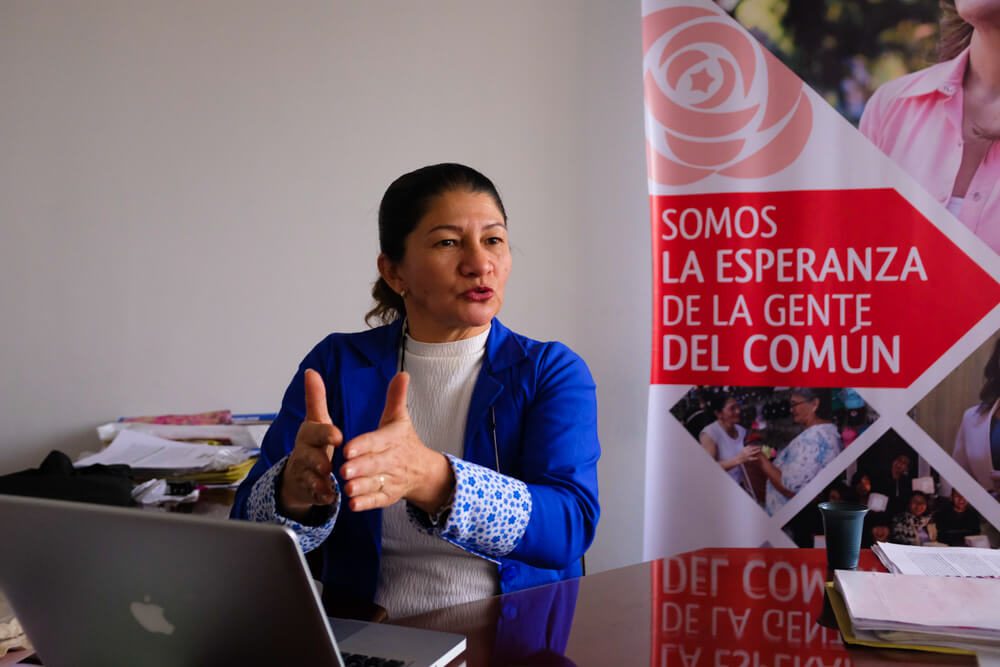 'La lucha hoy es desde la calle': Sandra Ramírez