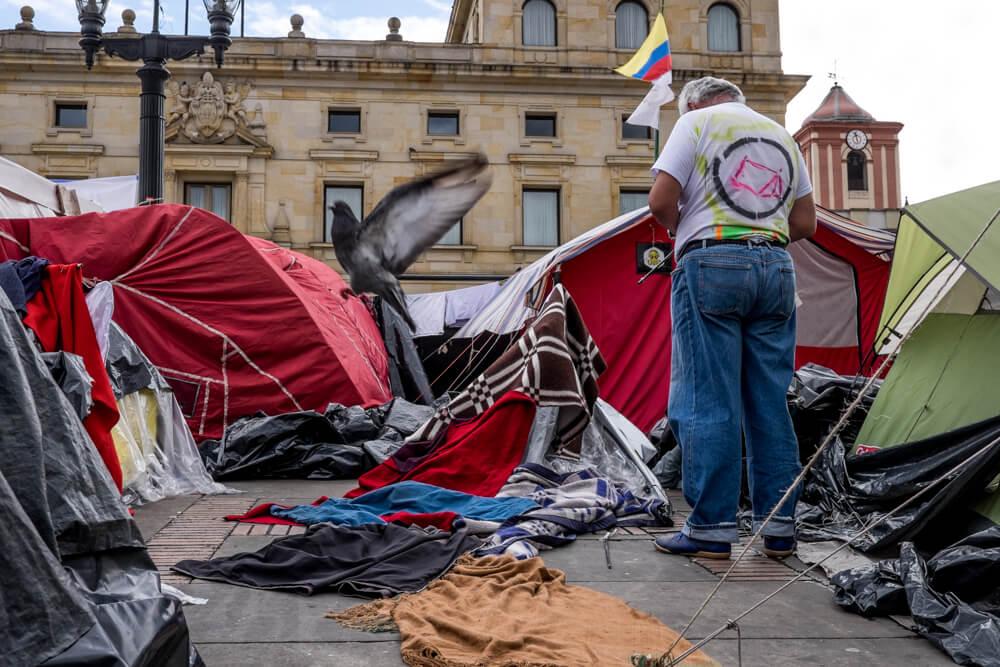 En imágenes: así intentaron desalojar el Campamento por la Paz