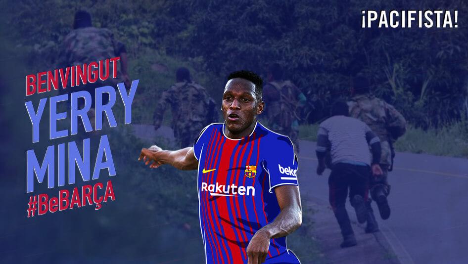 Del Cauca al Barça: Yerry Mina es un ejemplo en medio del conflicto