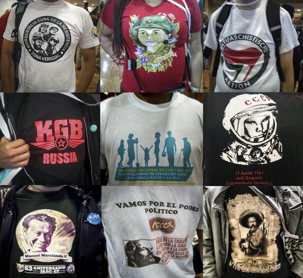 Estas son las mejores camisetas rebeldes del congreso de las Farc