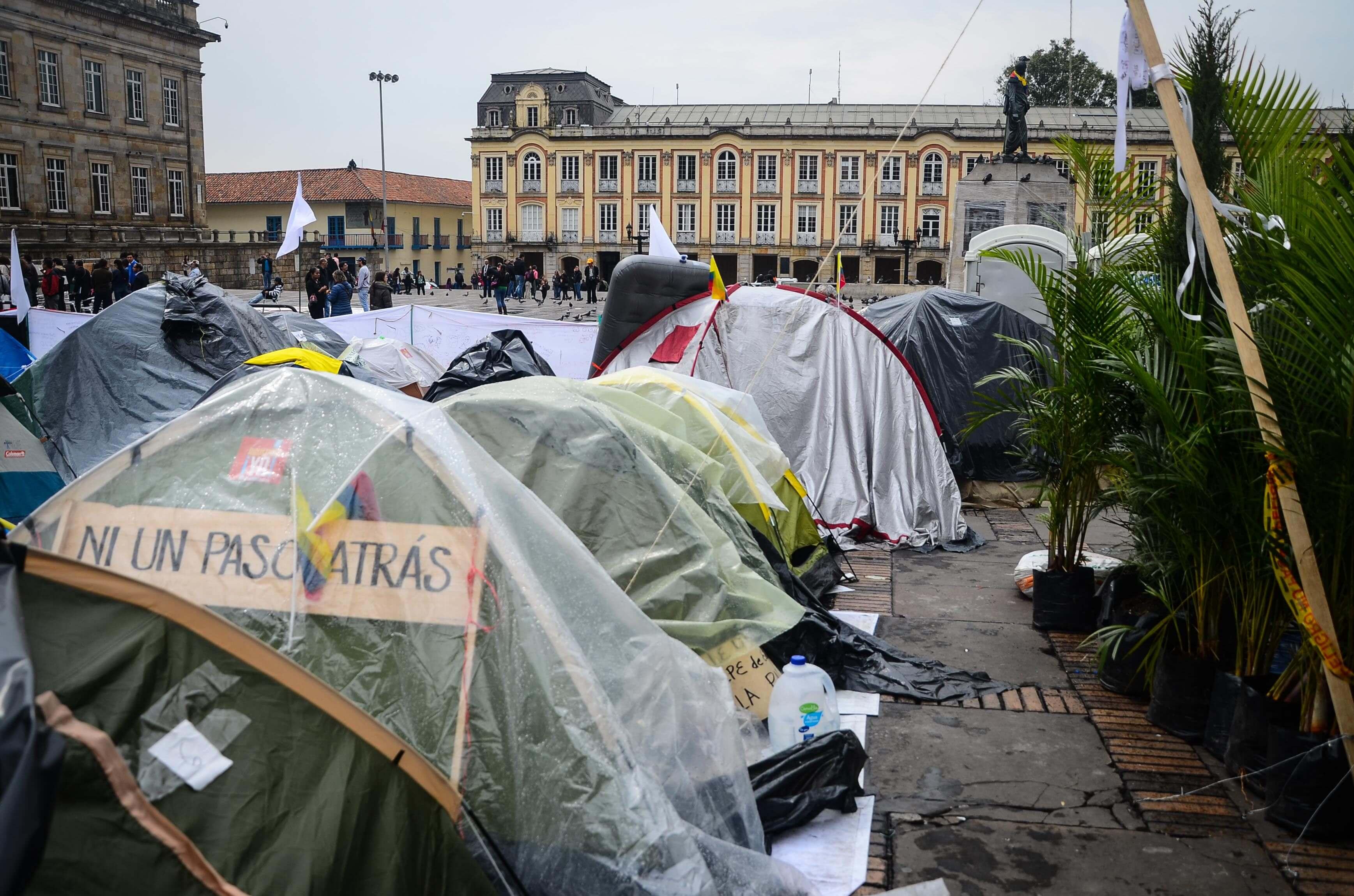 El Campamento por la Paz en tiempos de crisis