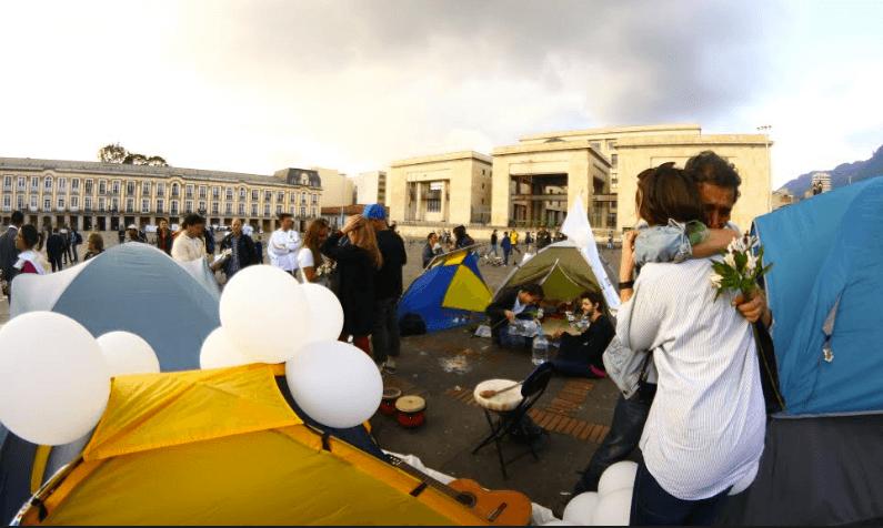 """""""No dejaremos que el miedo gane"""": la respuesta del Campamento por la Paz a las amenazas en su contra"""