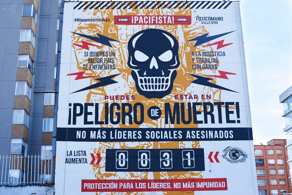 Editorial: ¡PACIFISTA! presenta un mural contra el olvido y por la vida