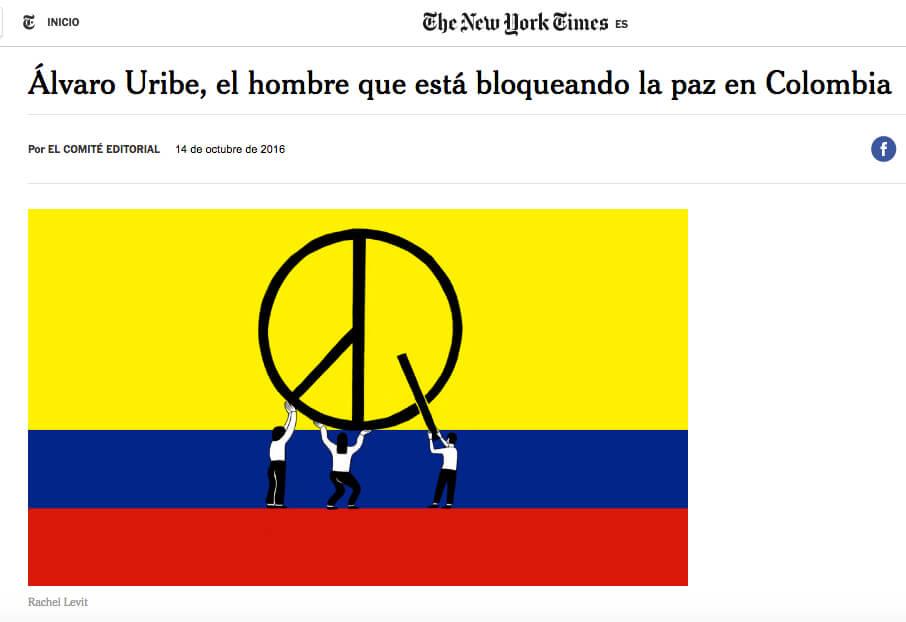 Bitácora de la incertidumbre: día 12, el New York Times cuestiona a Uribe