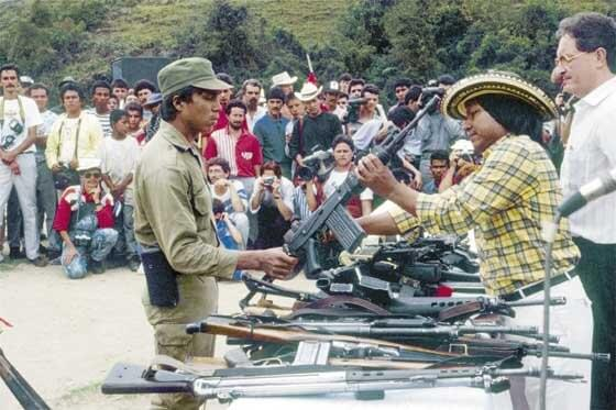 ¿Qué pasó con las armas de las guerrillas colombianas que se desmovilizaron?