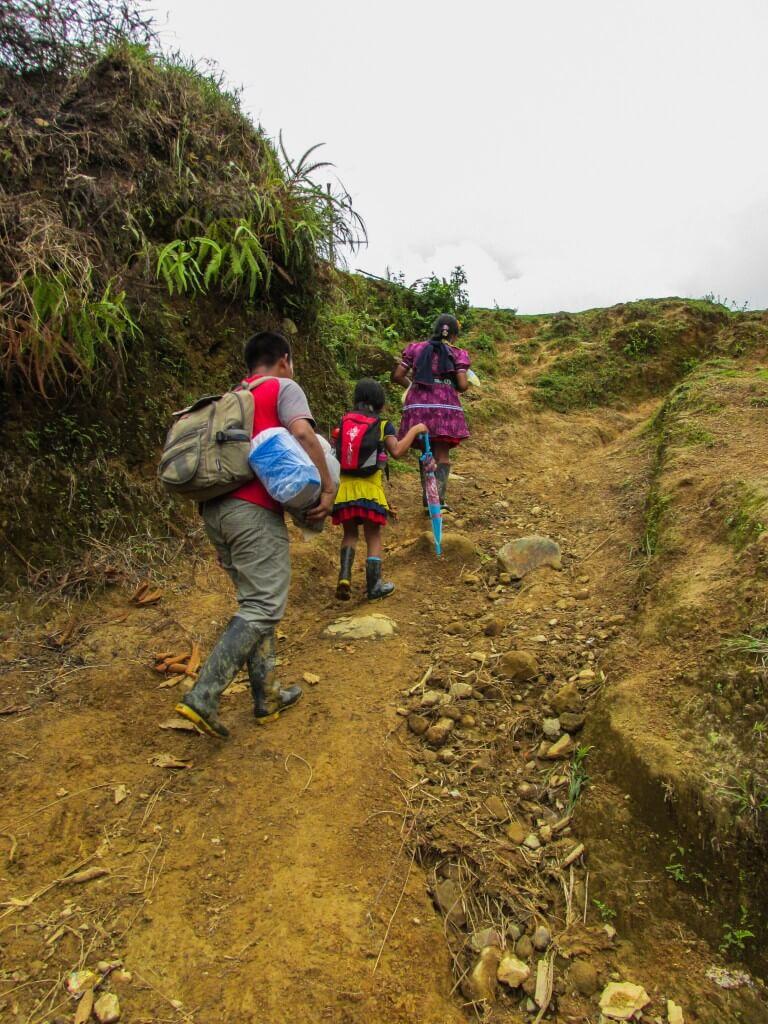 Los niños que se mueren en la selva