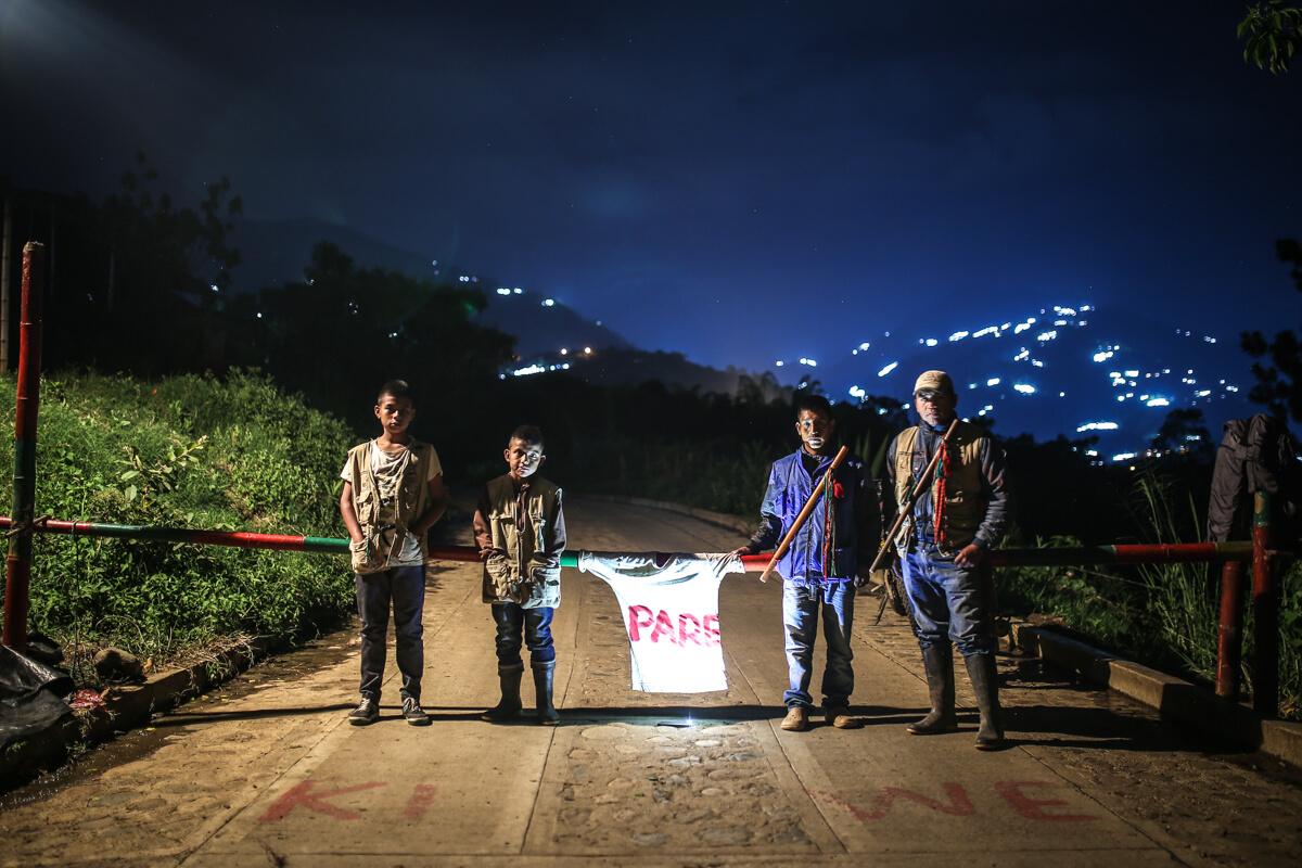 Una noche de patrullaje con la Guardia Campesina