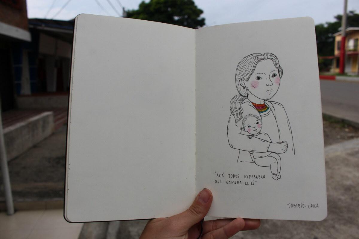 #CaravanaPacifista 9 de noviembre: una libreta de retratos