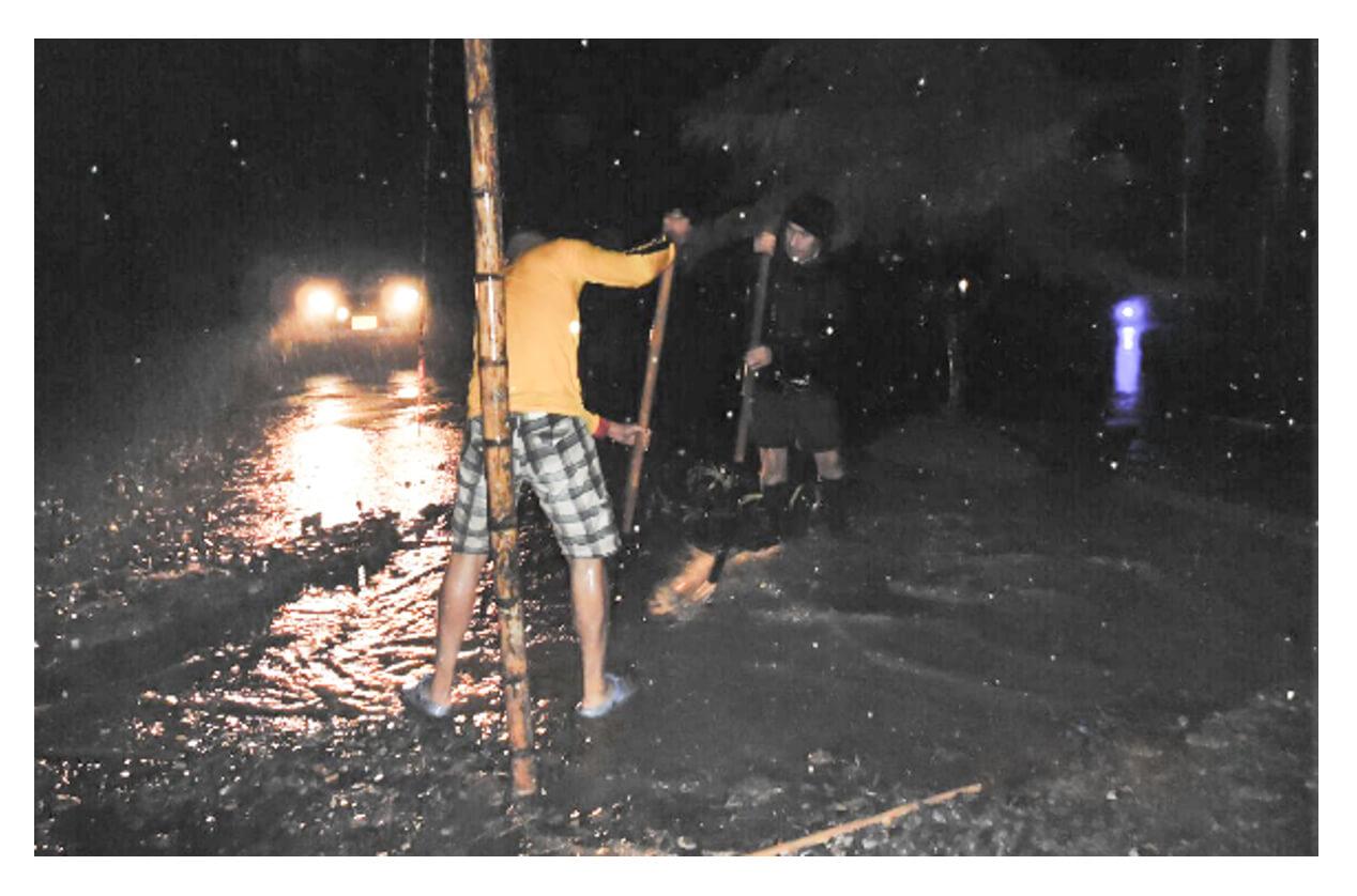 La zona veredal que visitó el presidente de Francia está inundada