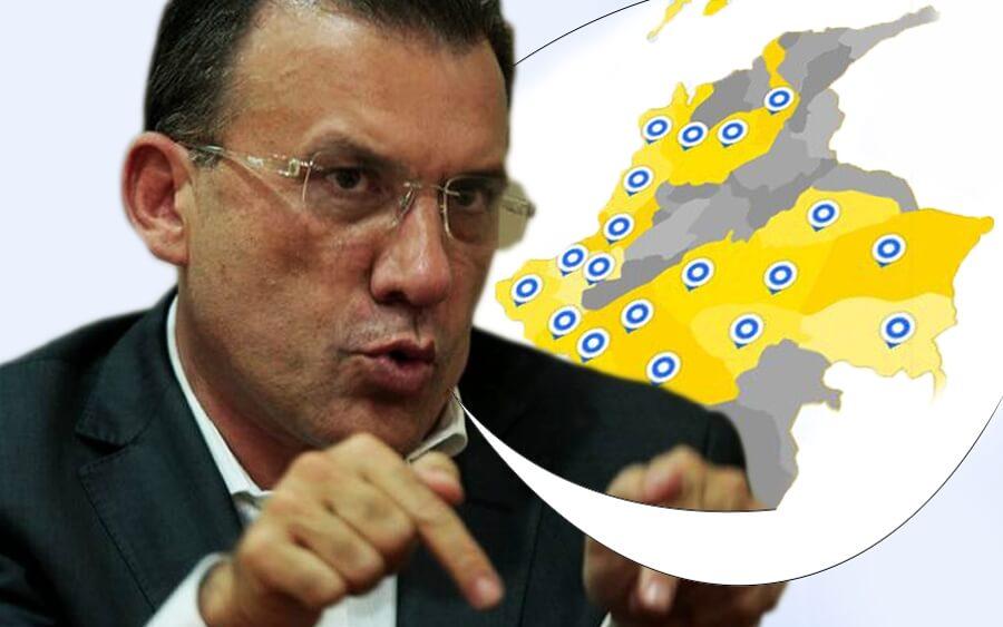 El mapa que enredó a Roy Barreras y a Álvaro Uribe
