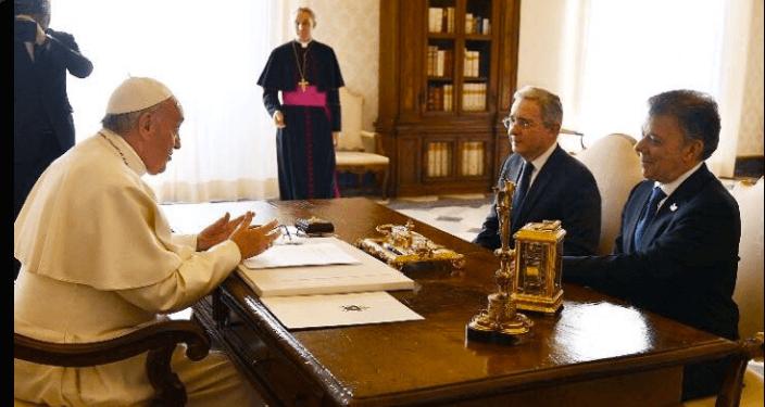 ¿La foto de la década?: el Papa reunió a Santos y a Uribe en el Vaticano