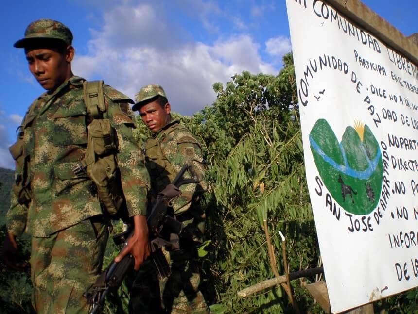San José de Apartadó prohibió la visita del  gobernador de Antioquia
