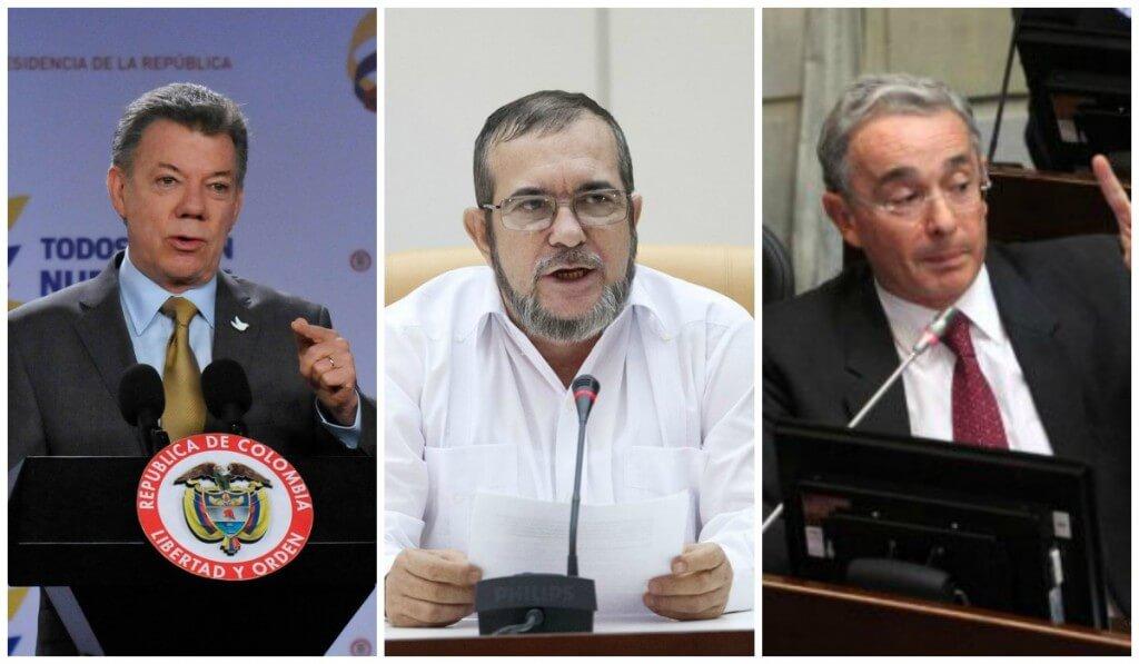 """Así cambió el discurso de Santos, """"Timochenko"""" y Uribe en este año que termina"""