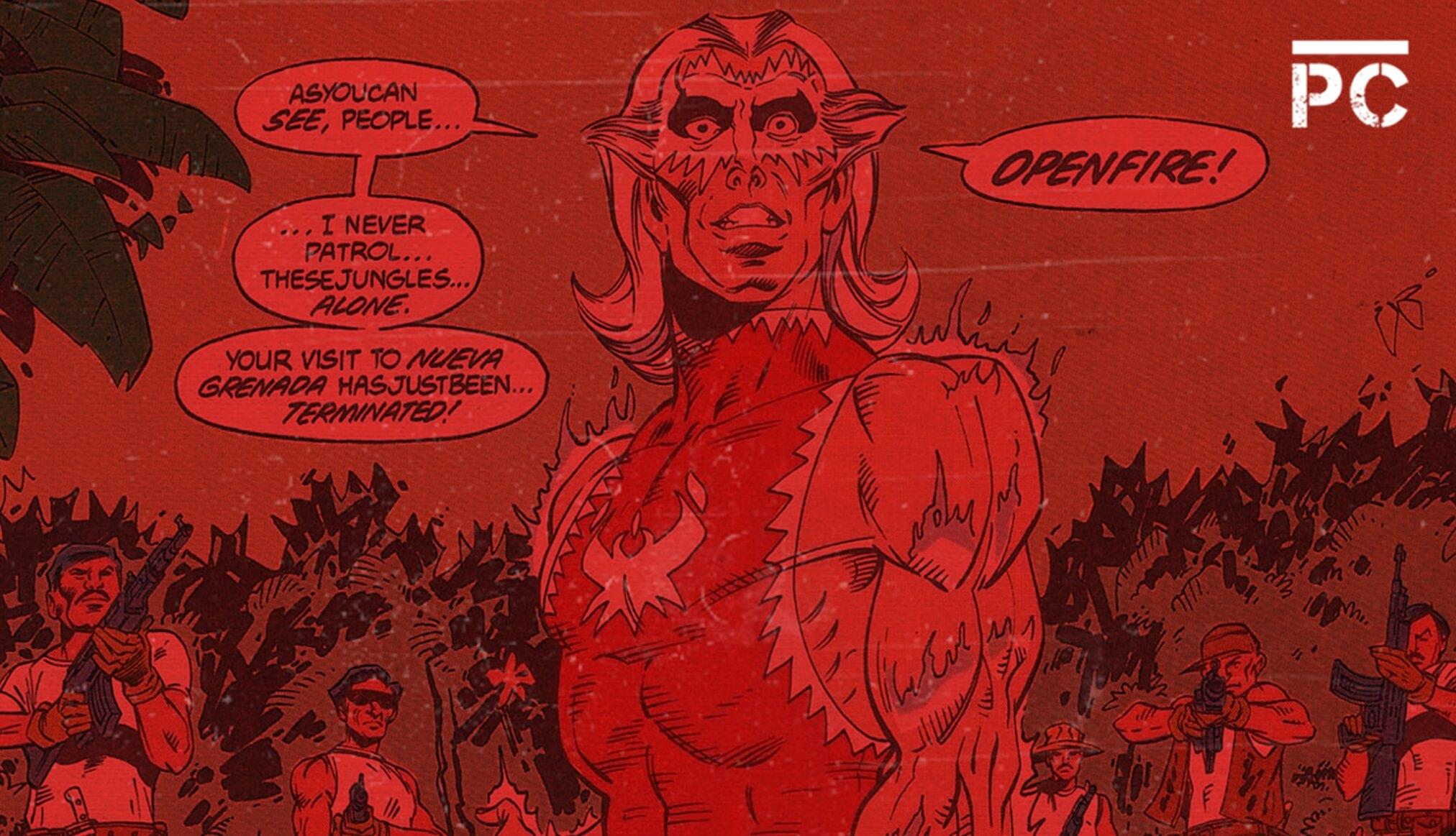 SnowFlame, el 'narco' colombiano que apareció en DC Comics