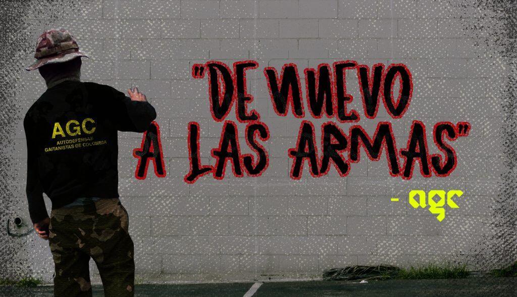 Las 'autodefensas' están llenando de grafitis las paredes en Cauca y Nariño
