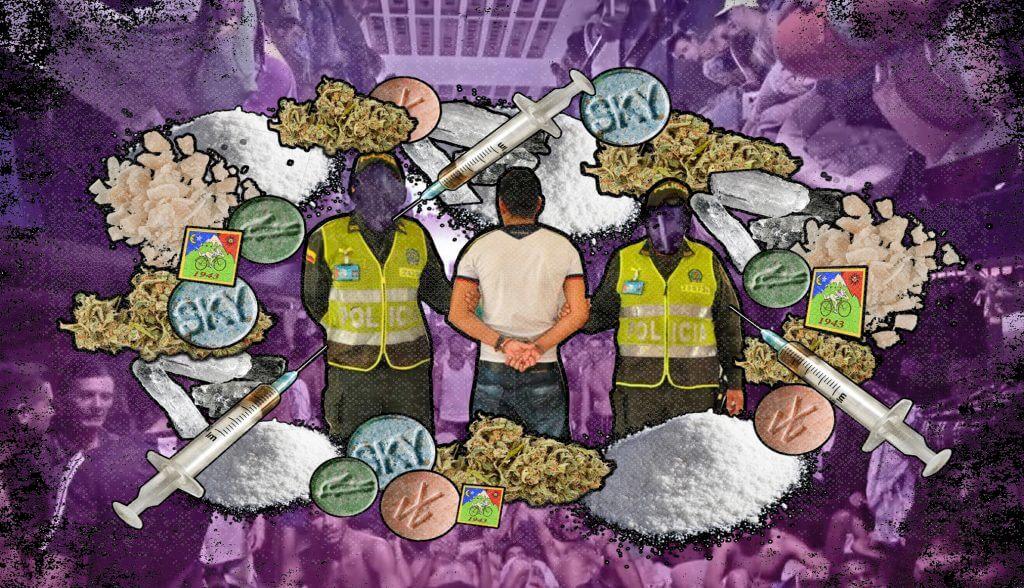En Colombia, cada hora capturan a nueve personas por delitos de drogas