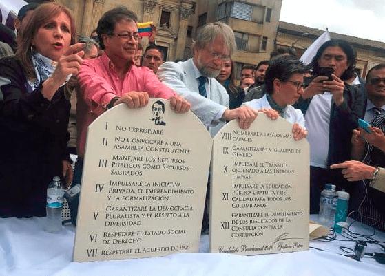 Estos son los 12 mandamientos de Petro, Claudia López y Mockus