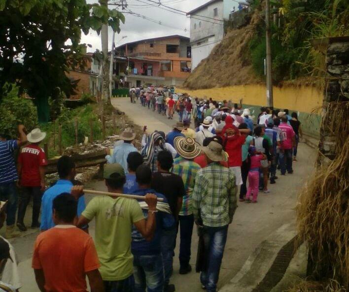 En el Norte de Antioquia no se ha acabado la tensión del paro agrario