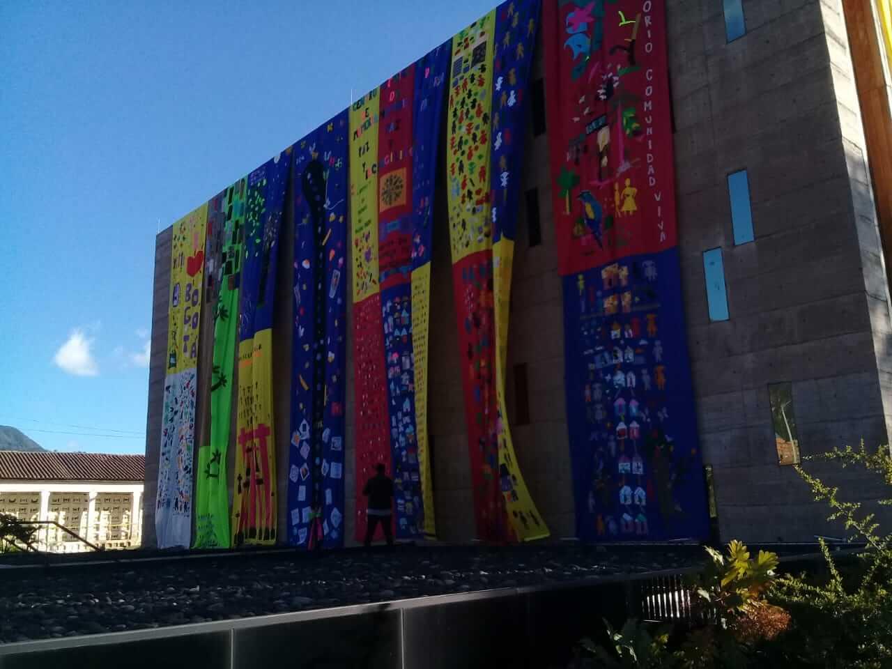 Un telar para la memoria, así celebra Bogotá el Día Internacional de la Paz