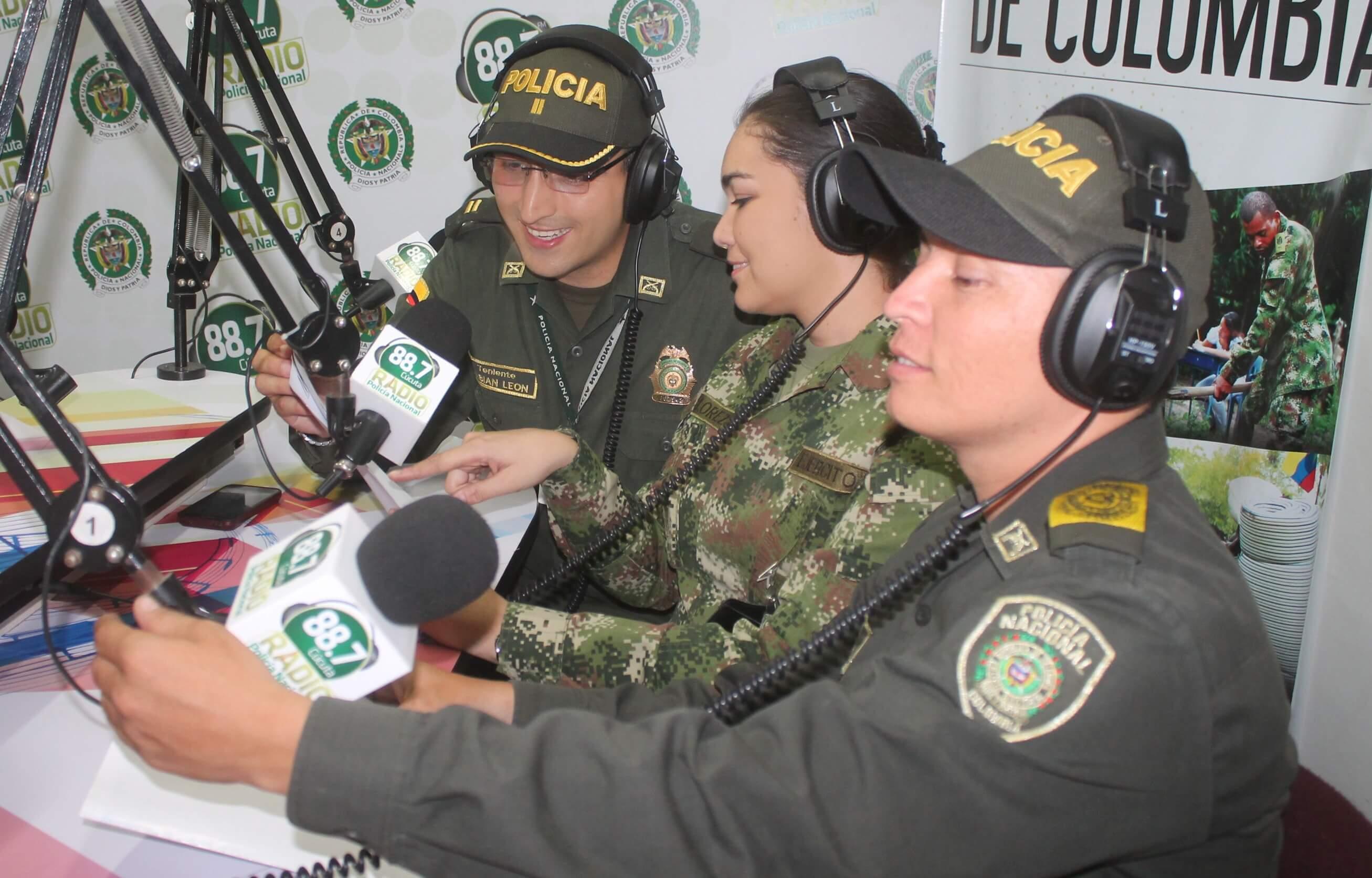 Las emisoras de la Fuerza Pública mandan un mensaje de paz