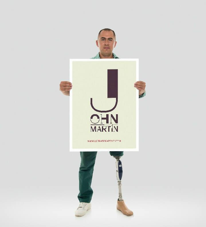 """""""Letras de Apoyo"""": una tipografía para ayudar a las víctimas de minas antipersonal"""