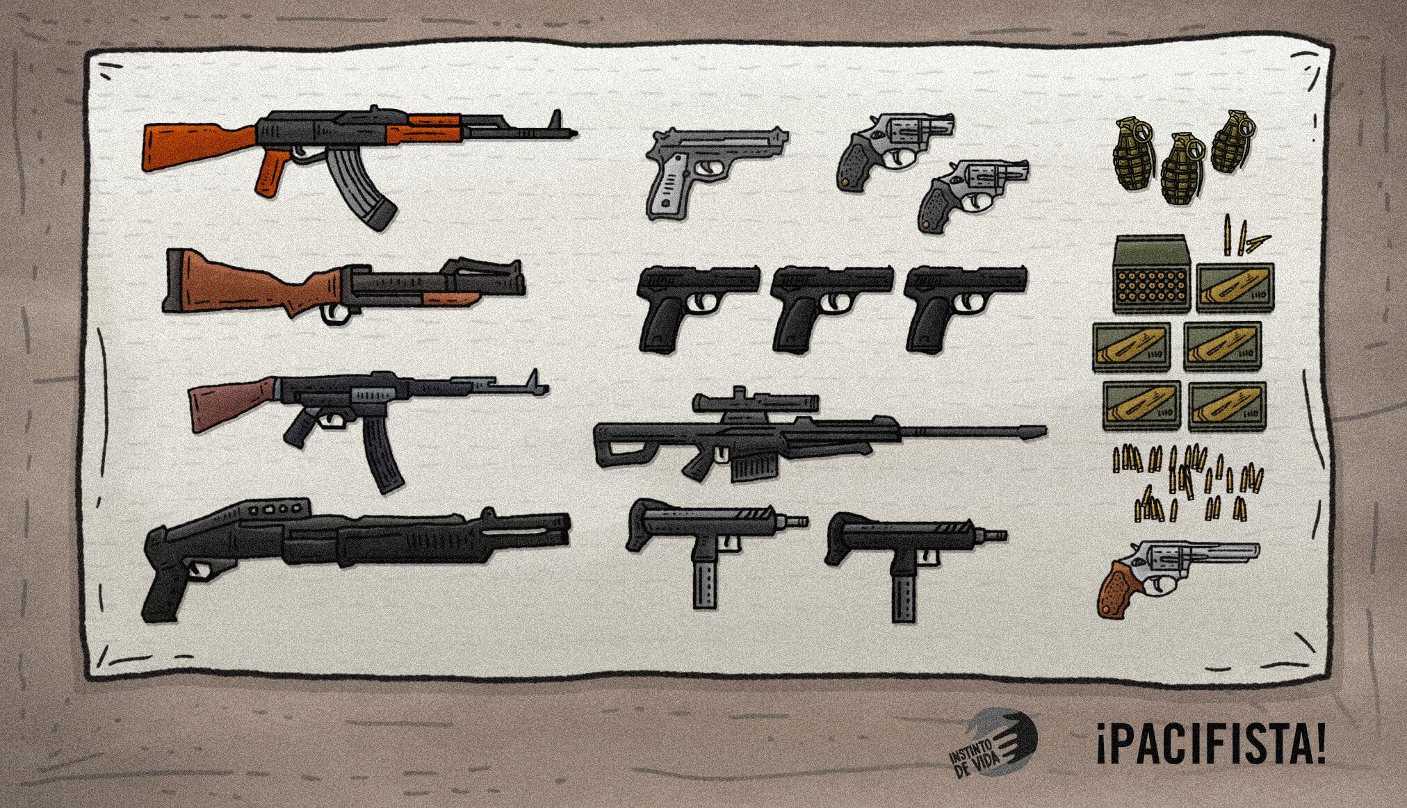 De la selva hasta las plazas mercado: así es el comercio ilegal de armas