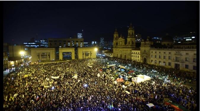 Bitácora de la incertidumbre: día 10, los indígenas llegaron a Bogotá para respaldar los acuerdos