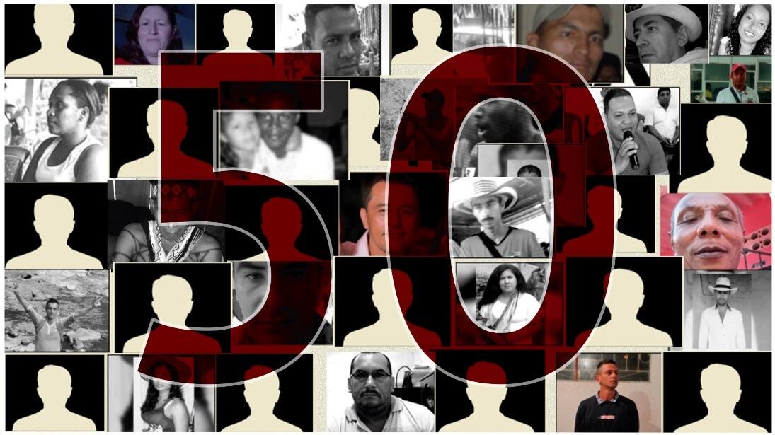 EDITORIAL | 50 líderes asesinados: el silencio no es una opción