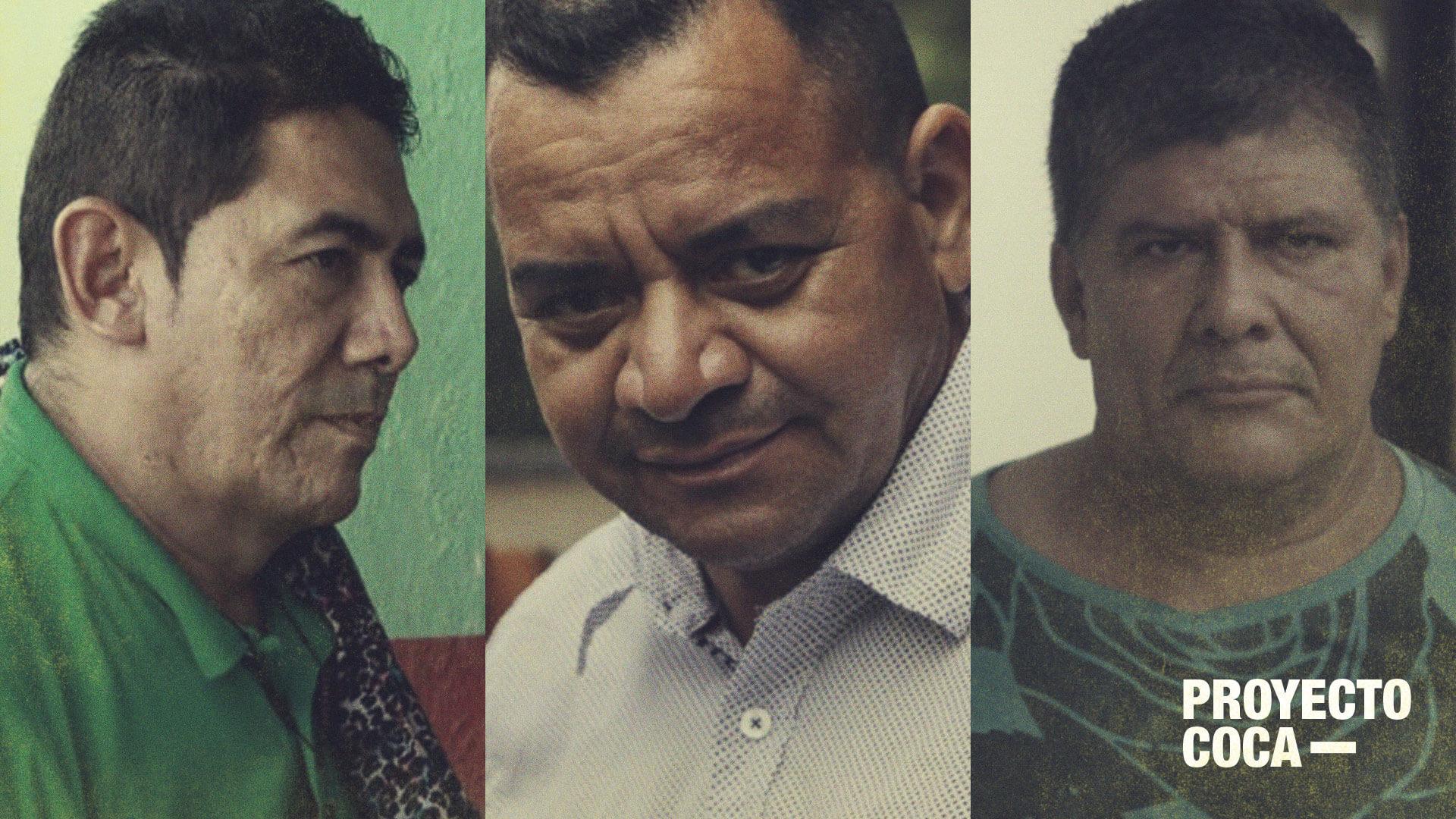 Tres candidatos que aspiran al Congreso con la coca como causa