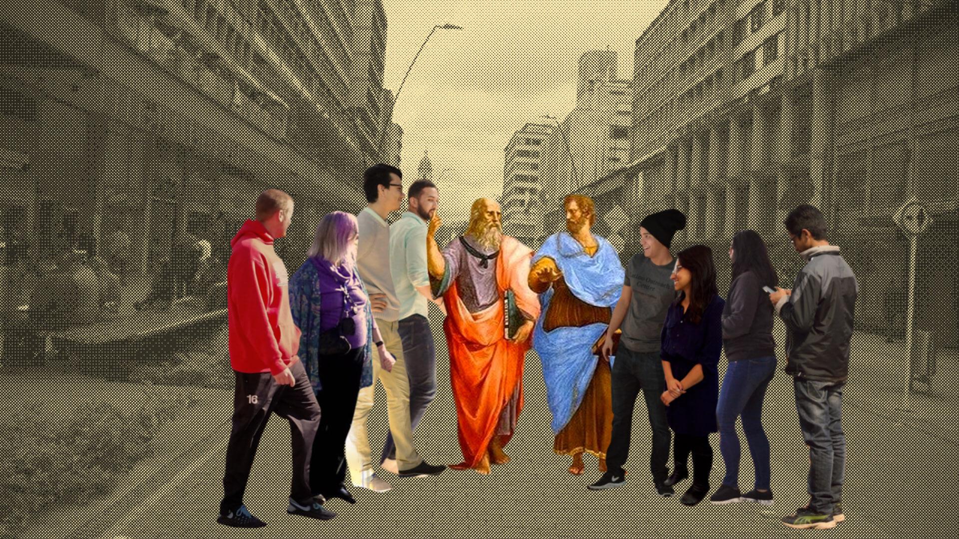 REC: el grupo de profesores de filosofía que dan clases en la calle