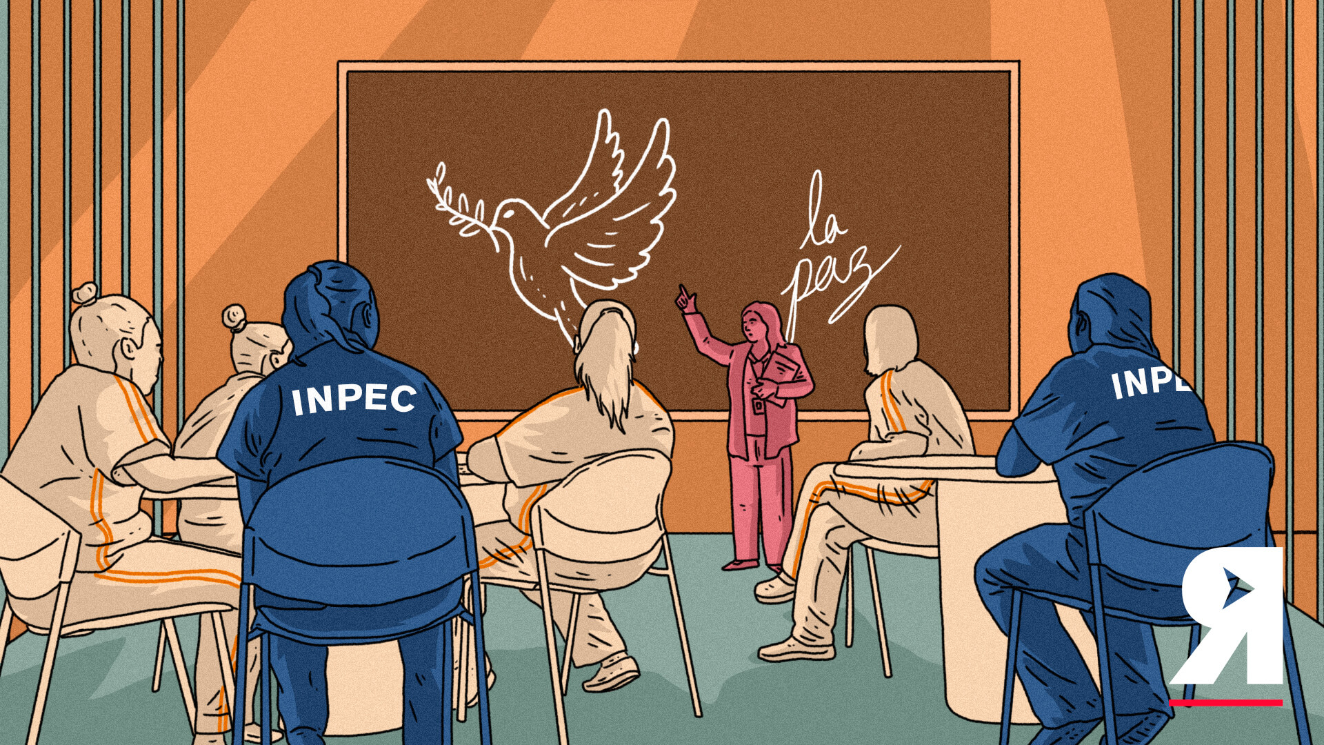 Así es recibir lecciones de paz en una cárcel para mujeres