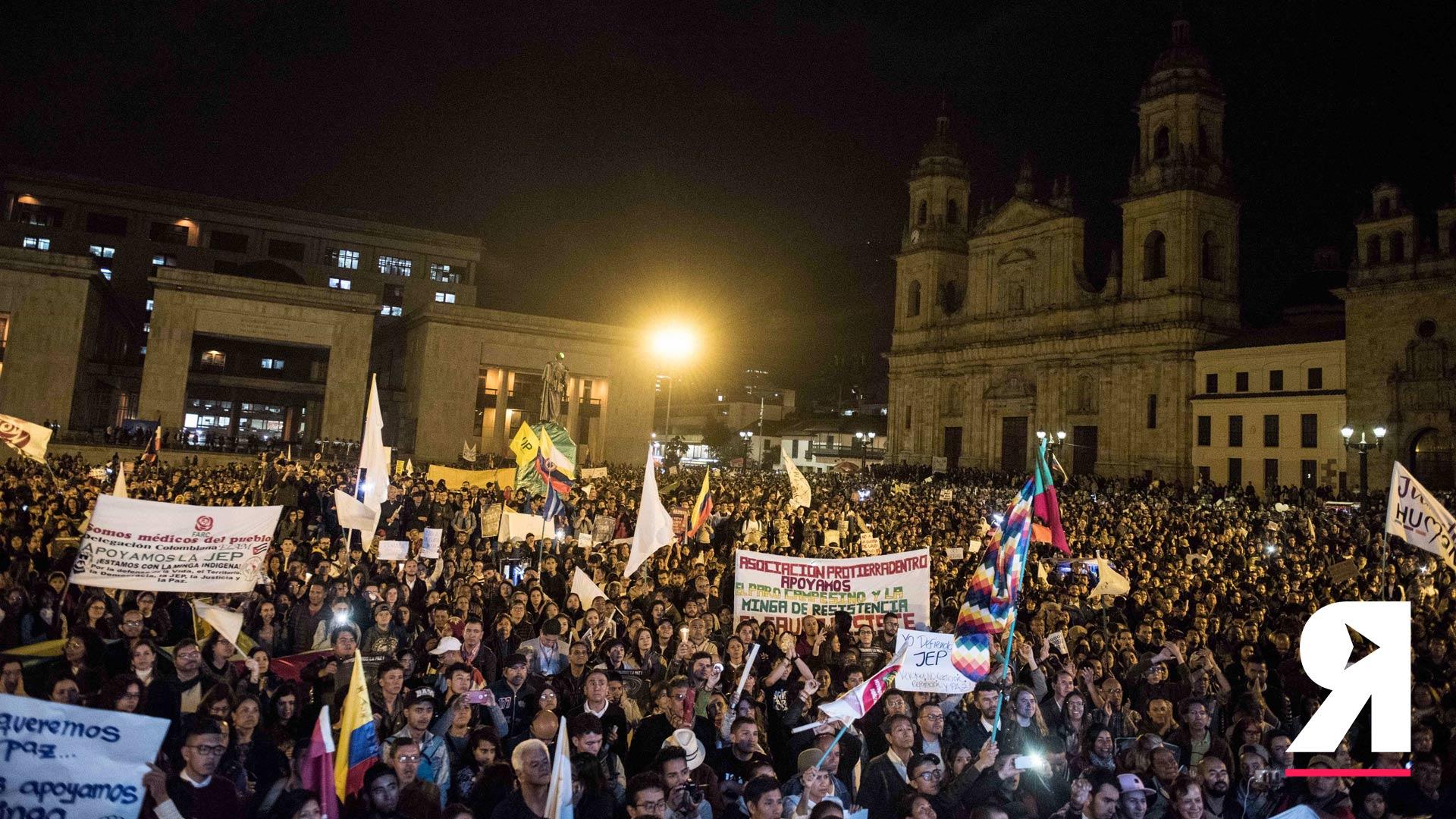 La JEP se respeta: la fuerza de la paz volvió a tomarse la Plaza de Bolívar