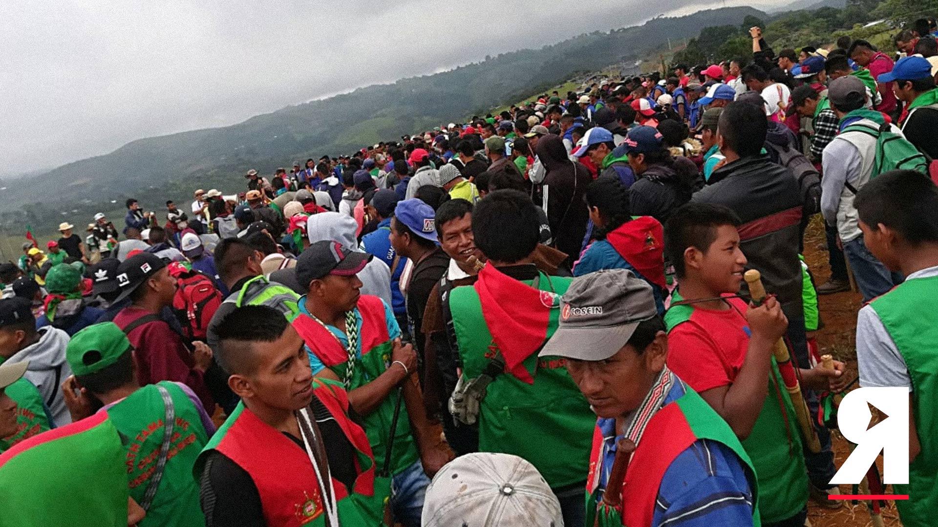 'No nos vamos a dejar robar la paz': retratos de la movilización nacional indígena