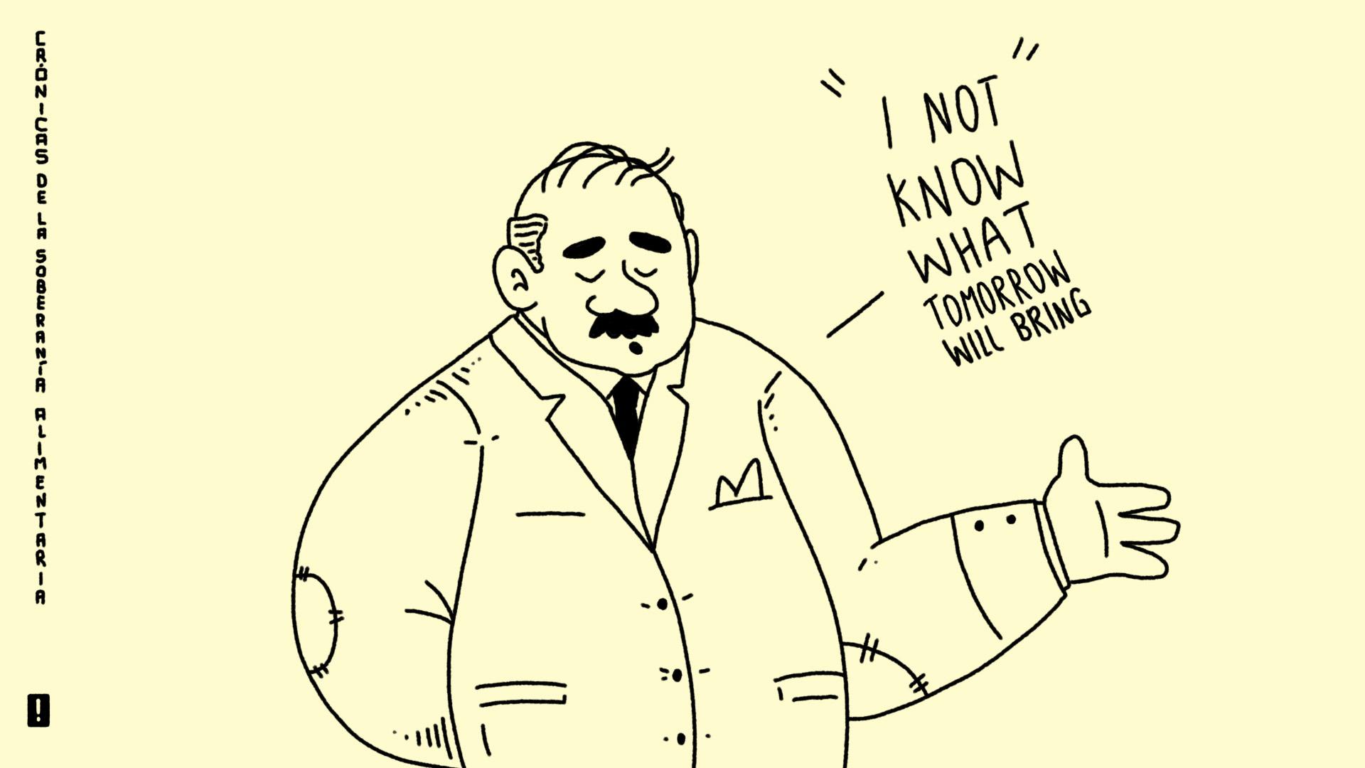 Entrevista (imaginada) a un congresista de bigote grasoso y sudado