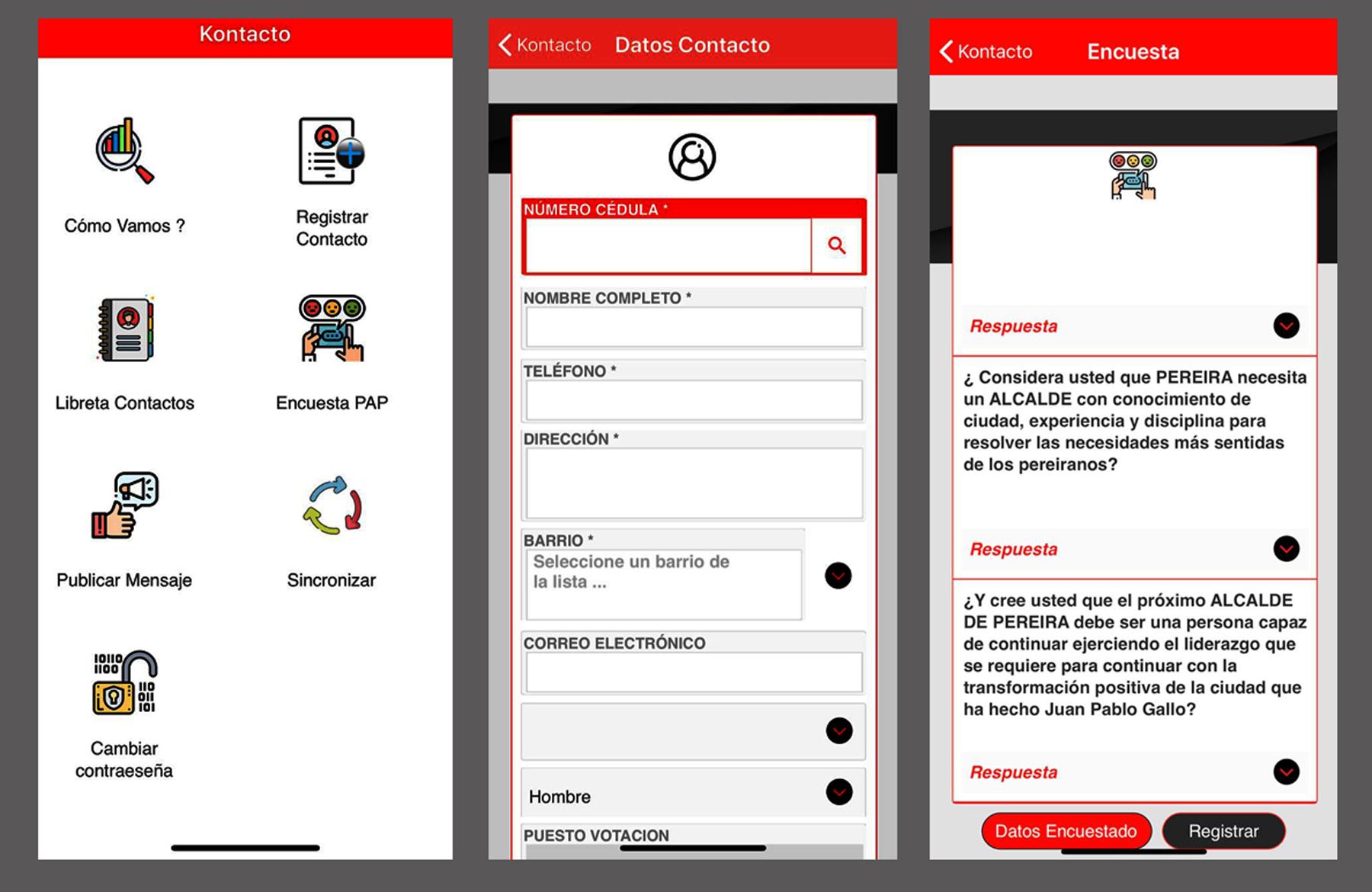 Kontacto, la app que capta votos en la Alcaldía de Pereira