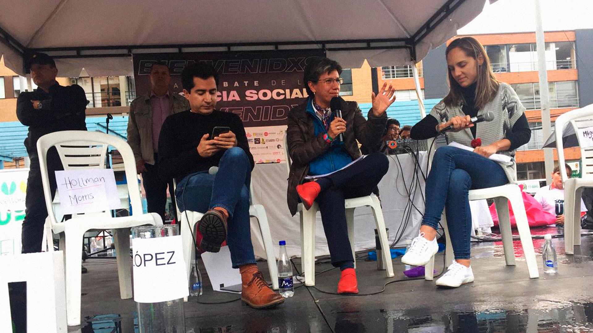 El debate que terminó siendo una entrevista a Claudia López