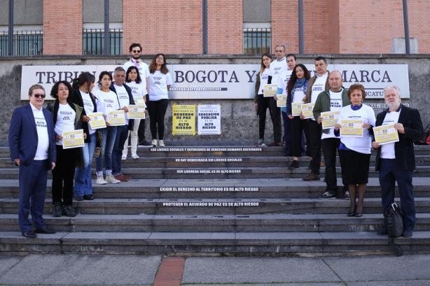 Del Paro a la Corte: hoy se radicó la histórica tutela que busca proteger los defensores de Derechos Humanos