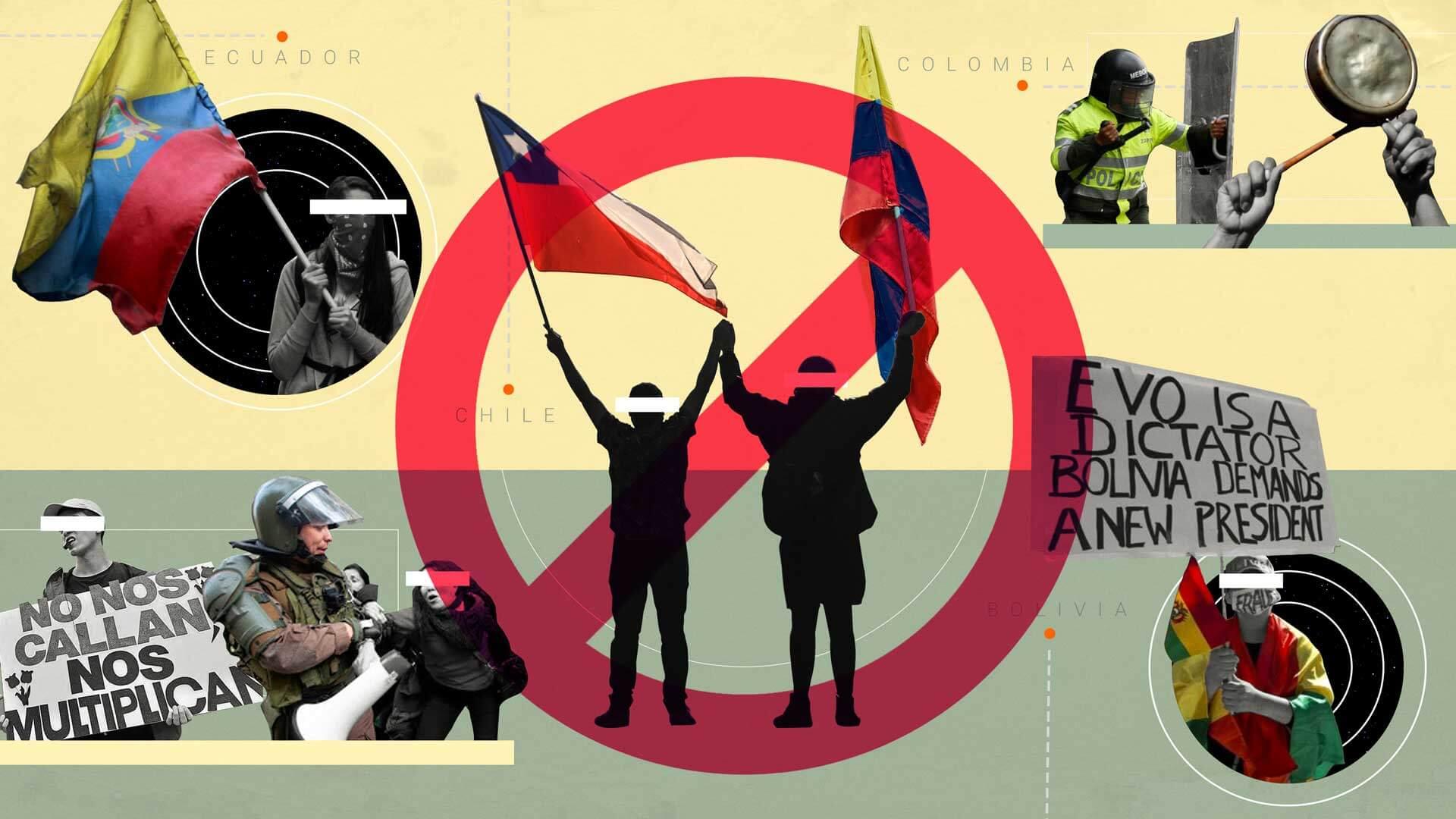 Represión, la respuesta de los gobiernos latinoamericanos a las protestas de 2019
