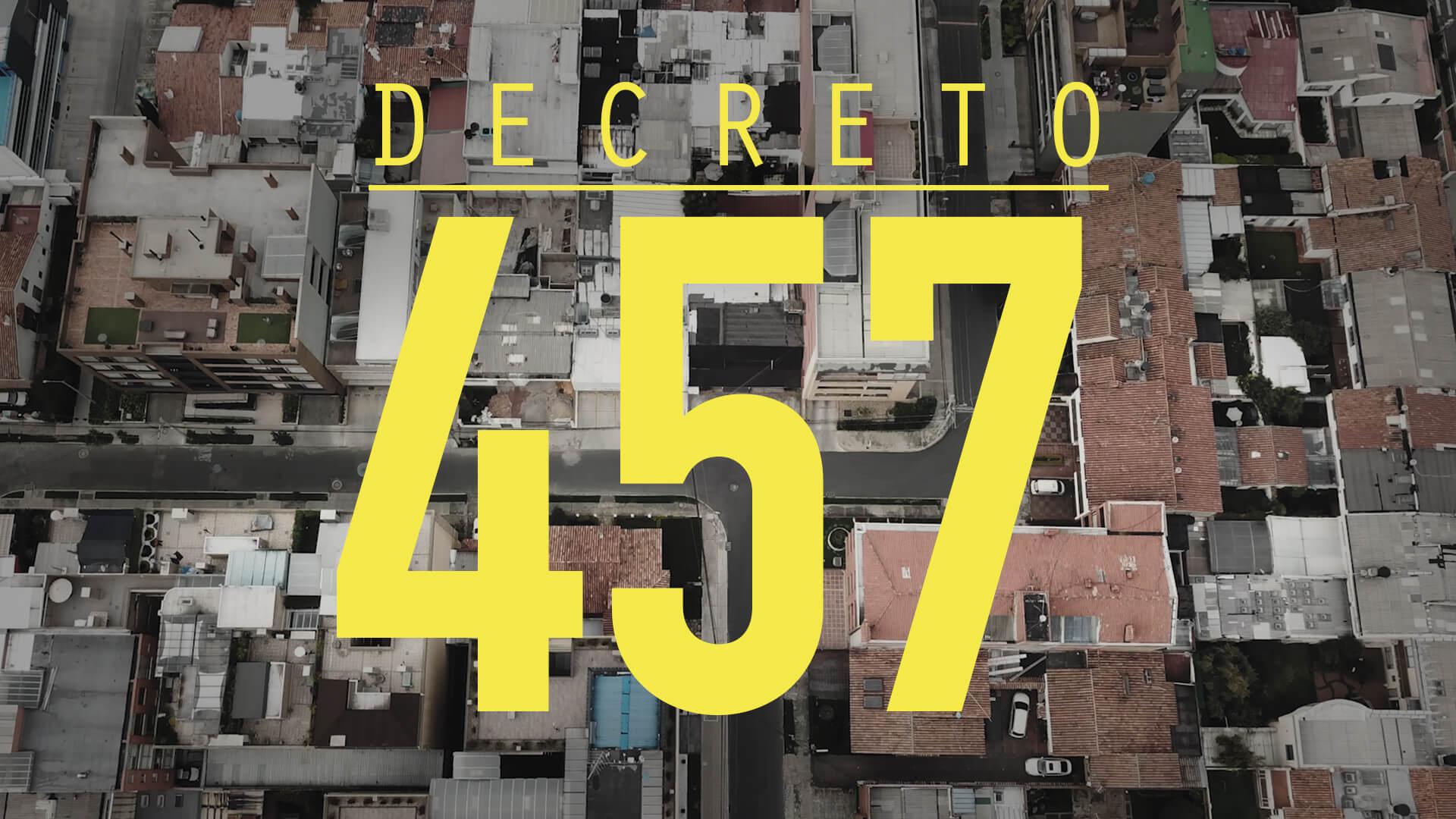 Decreto 457 (ahora 531)