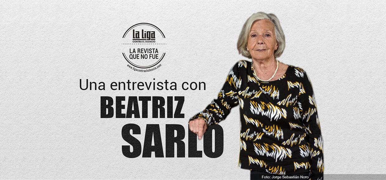 Una entrevista con Beatriz Sarlo