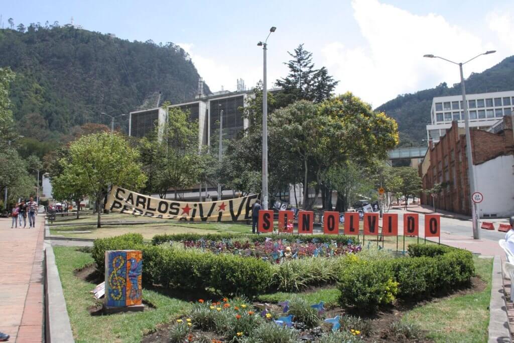 El jardín en homenaje a Sandra Catalina y otras niñas asesinadas