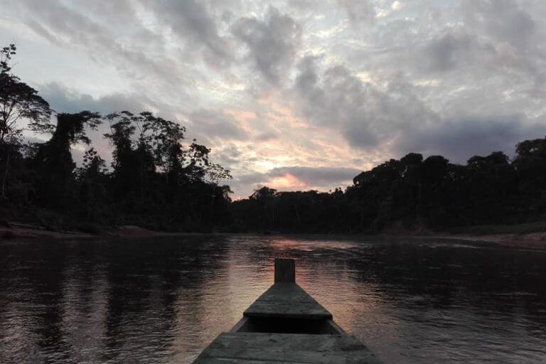 Atardecer en el Parque Nacional Madidi. Foto: Radamir Sevillanos.