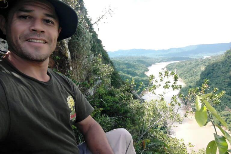 Radamir Sevillanos, guardaparque del Parque Nacional Madidi. Foto: Radamir Sevillanos.