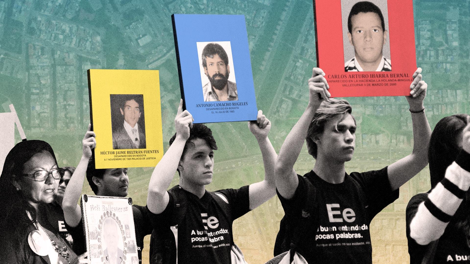Las huellas de la desaparición forzada en Bogotá