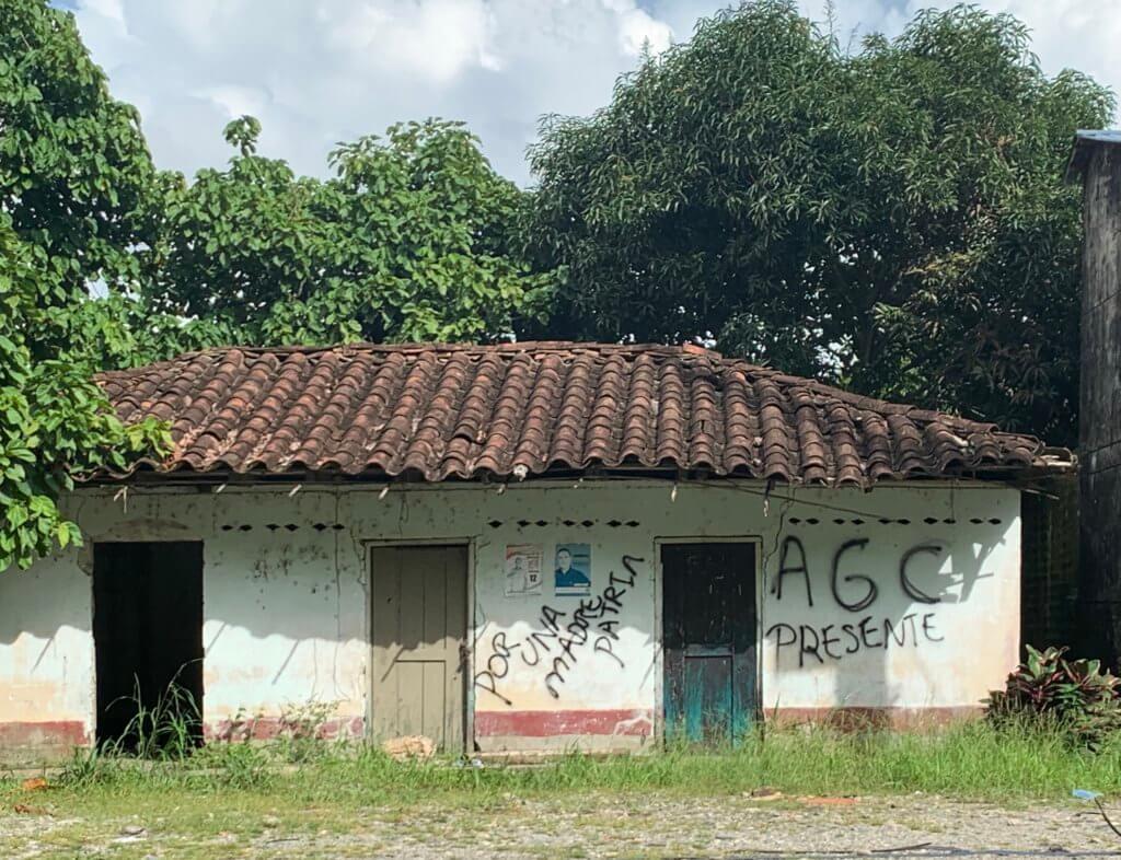 AGC pintada en el Bajo Cauca