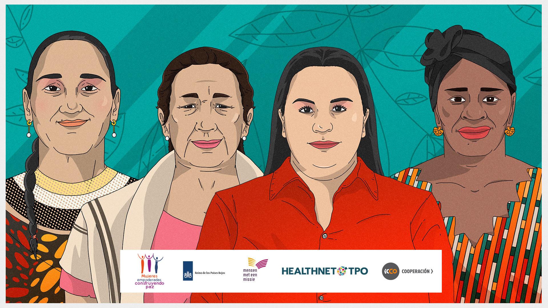 Cuatro 'hijas' de la 1325, la resolución que cumple 20 años construyendo paz con mujeres del mundo